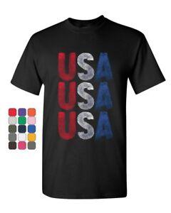 USA-USA-USA-T-Shirt-4th-of-July-Patriotic-Freedom-American-Pride-Mens-Tee-Shirt