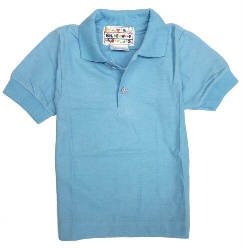 Polo Shirt Toddler Boys Short Sleeve Dress Up 2 Button Plain Size 2 3 4 5 67 New
