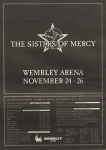 201090 Pgn46 Advert The Sisters Of Mercy Wembley Arena November 2426 10x7 - <span itemprop=availableAtOrFrom>Peterborough, United Kingdom</span> - Returns Accepted Most purchases from business sellers are protected by the Consumer Contract Regulations 2013 which give you the right to cancel the purchase within 14 days after the - Peterborough, United Kingdom