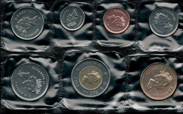 WITH LOGO variety brilliant uncirculated set 2009 Canada Prooflike PL regular