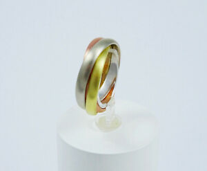 Tricolor-Ring-in-14Kt-585-Gelb-Weiss-Rosegold
