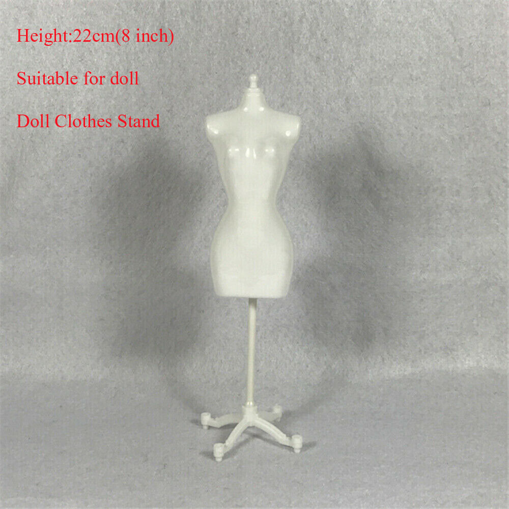 White Black Dress Form Clothes Gown Display Mannequin Model Stand Rack Doll AB