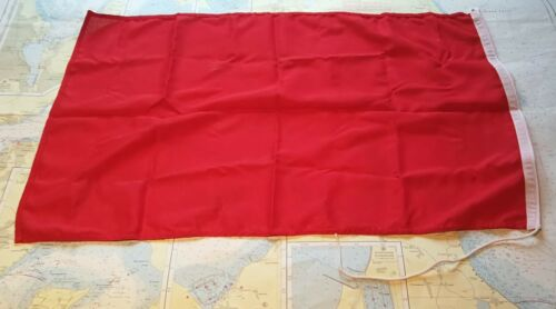 "robuster Schiffsflaggenstoff Portofrei rot 50x60cm Regattaflagge /""Protest/"""