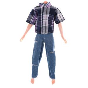 Clothes-for-Boyfriend-Dolls-T-shirt-amp-Ripped-Jeans-Pants-Trouse-JS