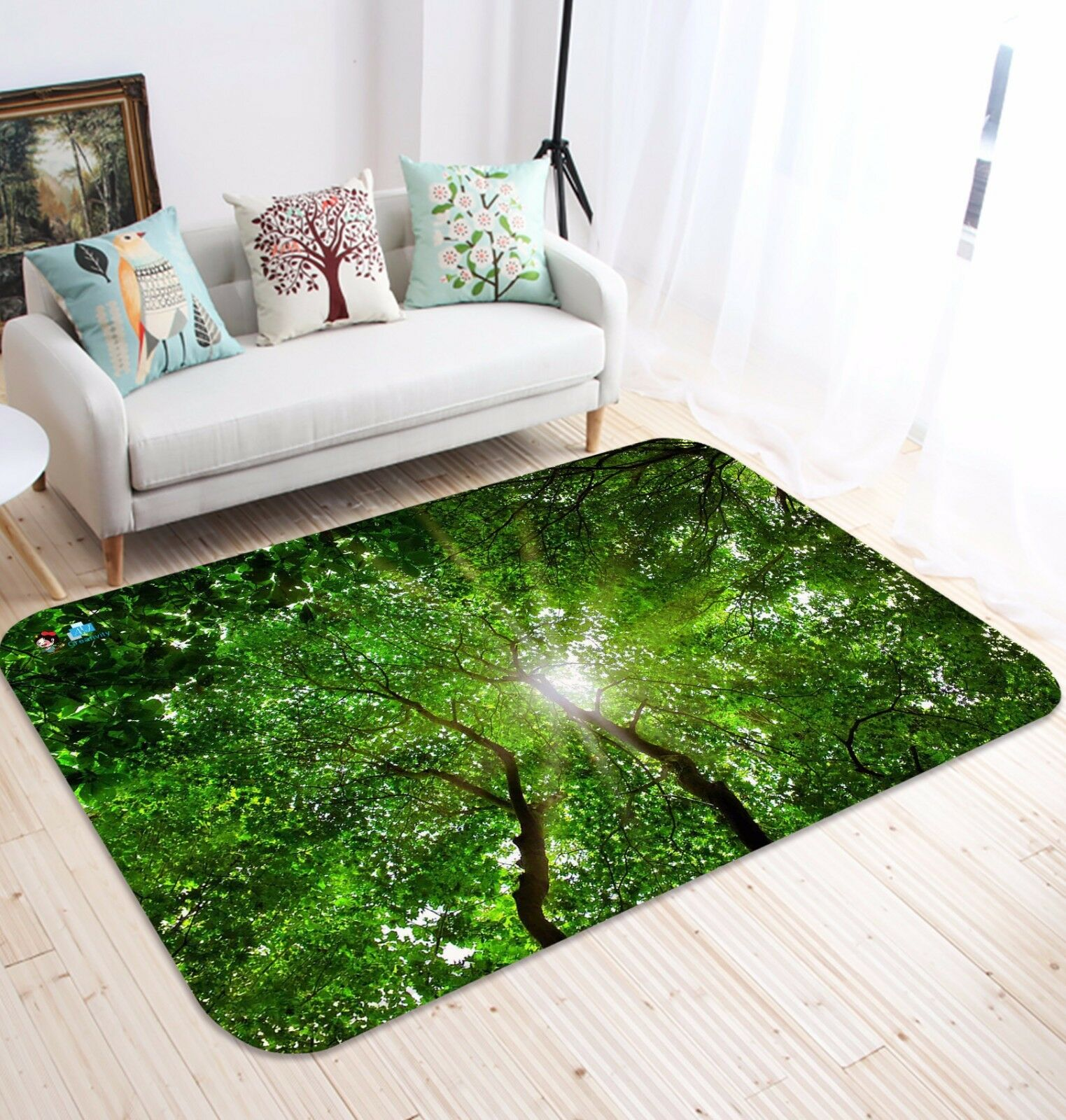 3D Tree Leaf 43 Non Slip Slip Slip Rug Mat Room Mat Quality Elegant Photo Carpet AU Summer 58eb4e