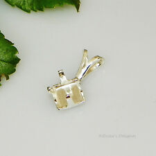 6mm Square Snap Tite Sterling Silver Pendant Setting