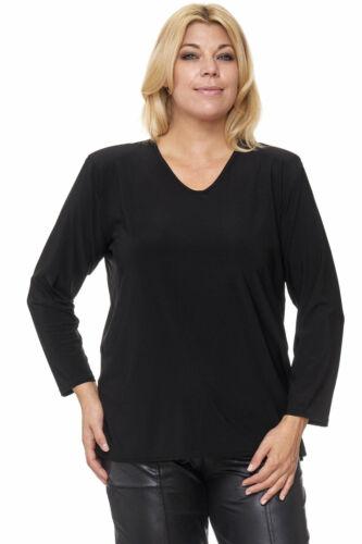 Unglaublich vielseitiges Langarm Shirt Lagenlook Basic in schwarz