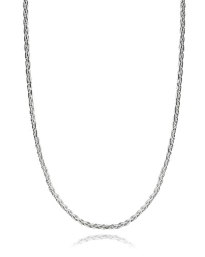 """Sterling Silver 1.5mm SPIGA Wheat Chain Necklace 045 Italy 16/""""-30/"""" NEW 925"""