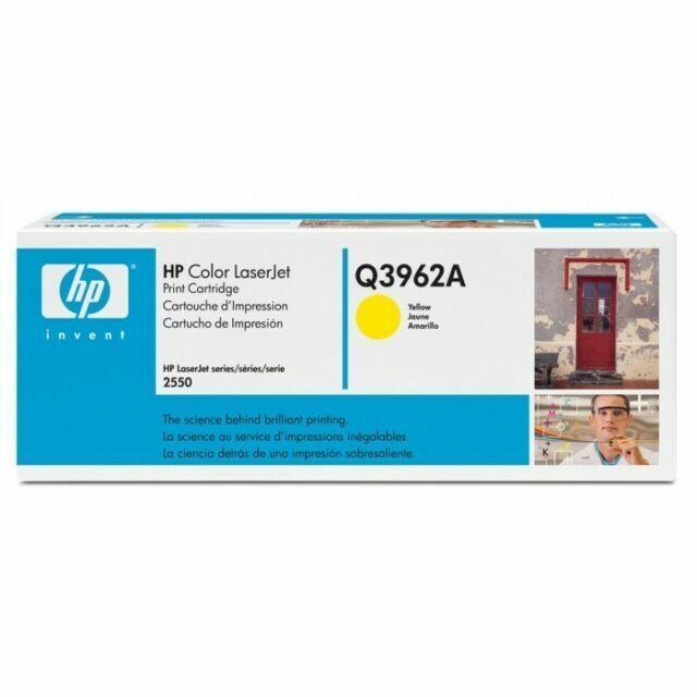 Q3962A 122A Genuine HP Yellow Toner Color LaserJet 2500L 2550LN 2550 /% Lot 5