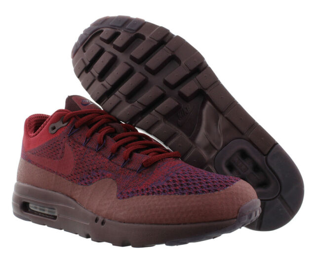 918ddbe550978 Nike Air Max 1 Ultra Flyknit Grand Purple Red Mens Running Shoes 856958-566  10