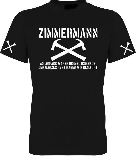 T-SHIRT ZIMMERER ZIMMERMANN HANDWERK HANDWERKER ZUNFT WAPPEN BIS 5XL