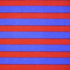 "Blue & Red Stripe Poly Cotton 45"" Fabric *Per Metre"