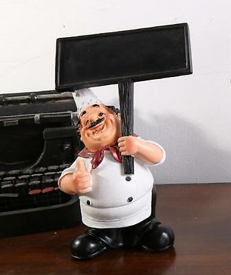 Home Kitchen Chef Ornament Figurine Statue Table Decor Restaurant Welcome Board