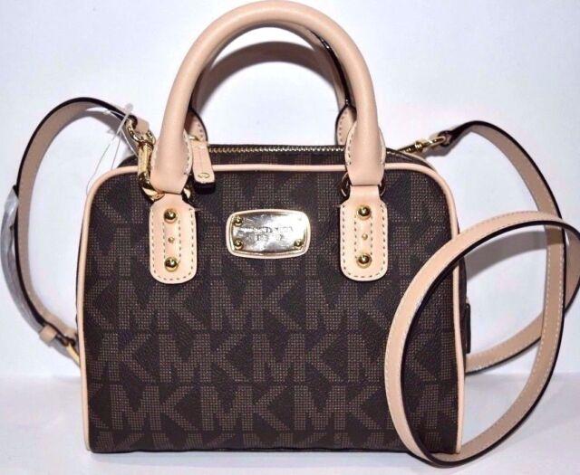 7cdefaac1faf1 Michael Kors New Saffiano Signature PVC Leather Mini Satchel Crossbody Bag   228