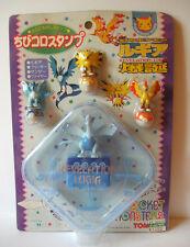 "Pokemon Lugia Zapdos Moltres Articuno roller stamp figure toy set 1"" Japan"