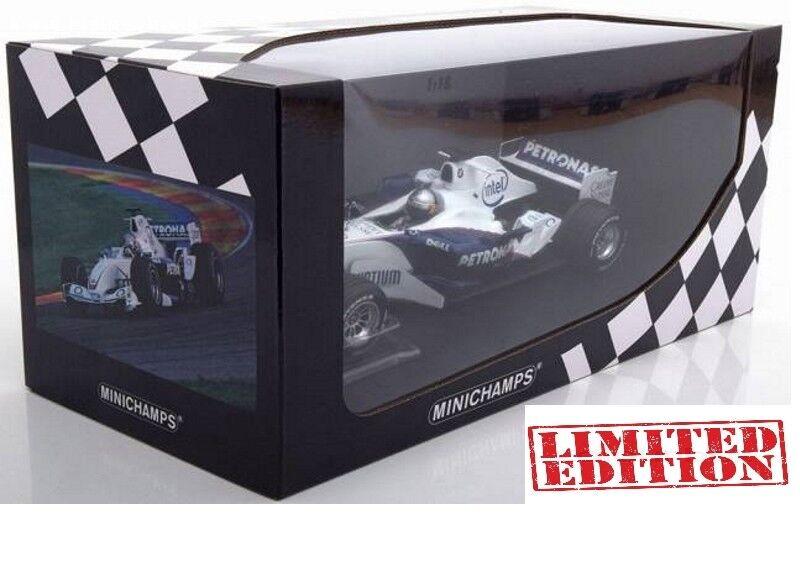 Bmw Sauber f1 c24b Sebastian bruja valencia 2006 Minichamps limed 1 18 nuevo en el embalaje original