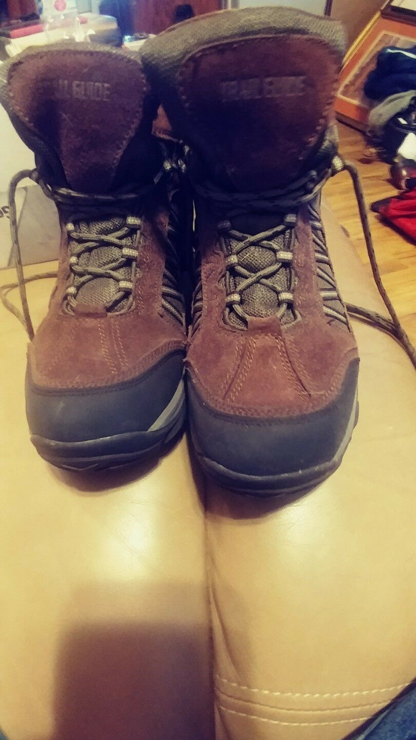 Trail Guide Mens Sz 10M Waterproof Brown Leather VOYAGER 032440 PO 17372