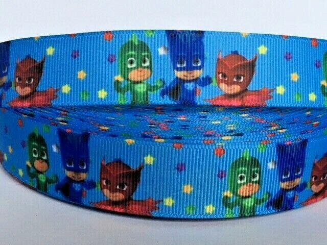 """1m Teenage Mutant Ninja Turtles Printed Grosgrain Ribbon 7//8/"""" 22mm"""