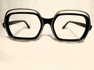 VERY-UNUSUAL-1970-039-S-EYEGLASSES-FRAME-WITH-AN-ATTACHED-METAL-RIM-NEW-OLD-STOCK