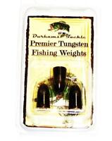 Durhams Tackle- Premier Tungsten Bullet Weight 3/8oz Black (3 Pack)