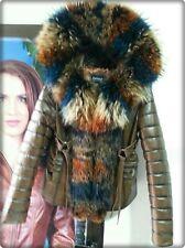 100% Echt Pelz Leder Fell Luxus Moderne Jacke