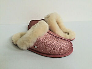 fdad5c74fc7 Details about UGG SCUFFETTE II SPARKLE PINK WOOL SHEARLING LINED SLIPPERS  US 9 / EU 40 / UK 7