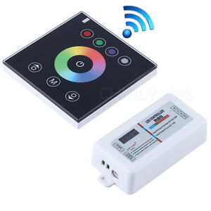 rgb 2 4g wireless wall switch touch controller led dimmer for dc12v led strip ebay. Black Bedroom Furniture Sets. Home Design Ideas