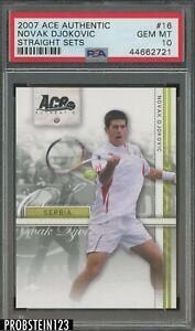 2007 Ace Authentic Straight Sets Tennis #16 Novak Djokovic PSA 10 GEM MINT