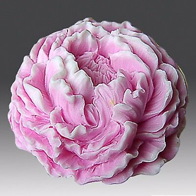 3D Silicone Soap/plaster/clay/Candle Mold-Ruffled Peony