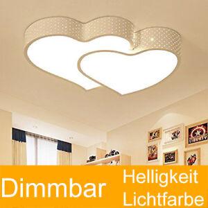 Details zu 24W LED Deckenleuchte voll dimmbar mit FB Deckenlampe Herzform  Schlafzimmer Weiß