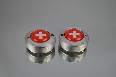 dust caps Swiss Switzerland flag fit shimano campagnolo ofmega suntour crankset