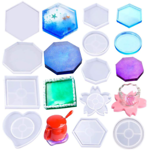 DIY Craft Silicone Molds Coaster Teacup Mat Mold Crystal Glue Dropping Tool