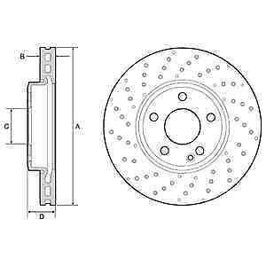 Delphi 2x Avant Revêtement disques de frein BG4657C-neuf-garantie 5 an