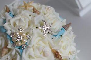 Bouquet Sposa Spiaggia.Bouquet Sposa Con Vongole E Strass Spiaggia Di Nozze Per Vestito