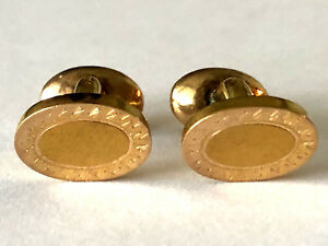Antique Cufflinks victorian era hand etched gold filled Cuff Links Men/'s Jewelry Formal Accessory