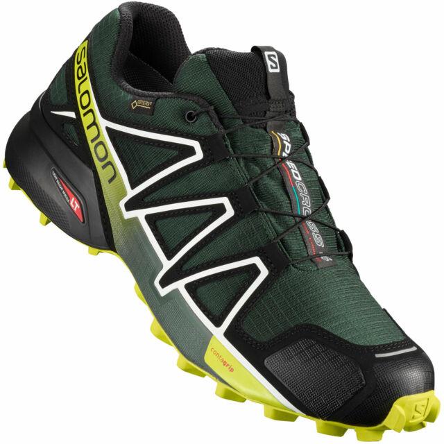 Scarpe Uomo Salomon Speedcross 4 Gore tex Running 43 13 Darkest Spruce