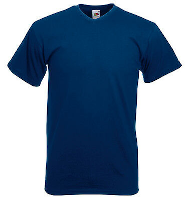 Fruit of the Loom Valueweight v-neck tee All Sizes