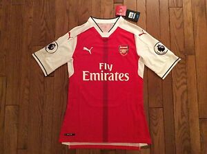 quality design dff66 b5e3f Details about PUMA Mesut Özil 11 Arsenal Authentic Home Jersey 16/17 BNWT