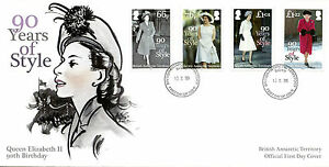 British Antarctic Ter BAT 2016 FDC Queen Elizabeth II 90th Bday 4v Cover Stamps