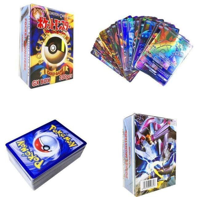 100pcs 95 GX + 5 MEGA Pokemon Cards Holo Flash Trading Card Mixed US SHIPPING