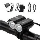 SolarStorm 8000lm 2xT6 LED Front Bicycle Light Bike Headlamp Headlight 6400mAh