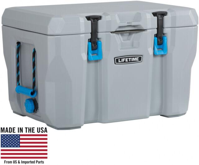 High Quality Cooler 55 Quart Storage Ice 7 days Camping Hiking Fishing 300lb New