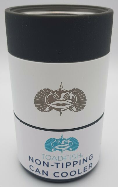 Toadfish Insulated Stainless Steel Non-Tipping Can Cooler -White