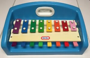 Authentic-Little-Tikes-Tap-A-Tune-Xylophone-Piano-Keyboard-Blue-Vintage-1985-VGC