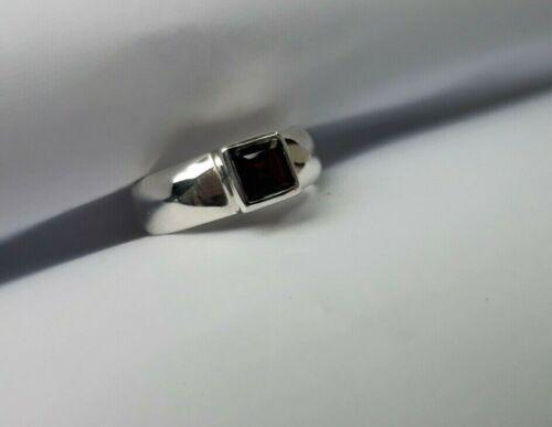 Sizes K L M N O P R T Sterling Silver Garnet AAA Grade Heavyweight Dress Ring
