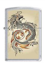 Zippo 2916 dragon tattoo satin chrome Lighter