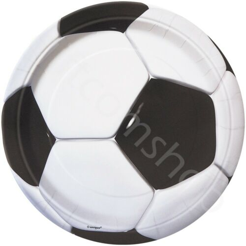 """7/"""" Soccer Football Theme Party Supplies Boys Kids Birthday Tableware 8 Guests"""