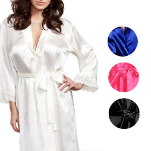 749e3a9c792b Image is loading Sexy-Women-Night-Dress-Silk-Satin-Pajama-Sleepwear-