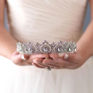 Corona Tiara Nuziale Principessa Regina Barocco Vintage Strass Fascia per Sposa