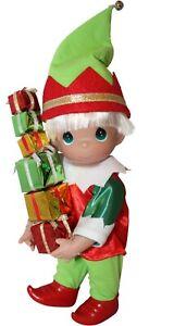 "Precious Moments 9/"" Bringing You Loads of Christmas Cheer Boy Elf Doll"